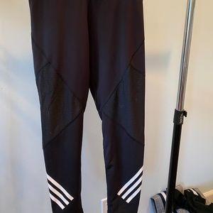 ADIDAS Mesh-Inset Triple Stripe Legging